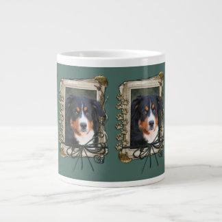 Fathers Day - Stone Paws - Bernese Mountain Dog Large Coffee Mug