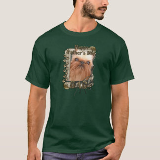 Fathers Day - Stone Paws - Brussels Griffon - Dad T-Shirt