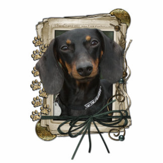 Fathers Day - Stone Paws - Dachshund - Winston Standing Photo Sculpture