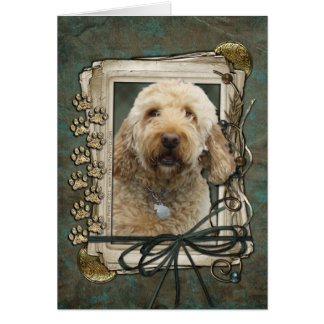 Fathers Day - Stone Paws - GoldenDoodle Card