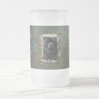 Fathers Day - Stone Paws - Newfoundland Frosted Glass Beer Mug