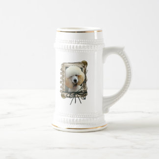 Fathers Day - Stone Paws - Poodle - Apricot Coffee Mug