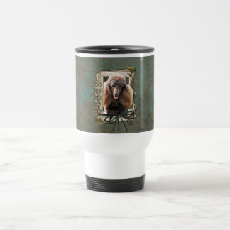Fathers Day - Stone Paws - Poodle - Chocolate Mugs