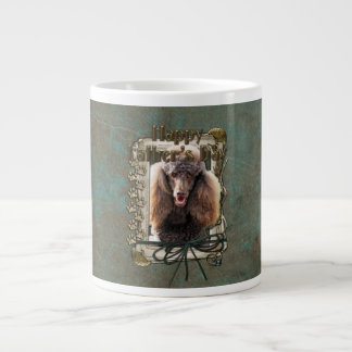 Fathers Day - Stone Paws - Poodle - Chocolate Extra Large Mugs