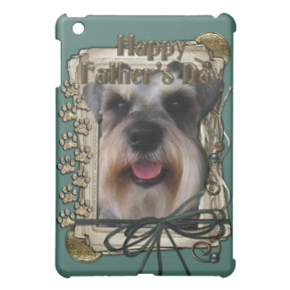 Fathers Day - Stone Paws - Schnauzer iPad Mini Cover