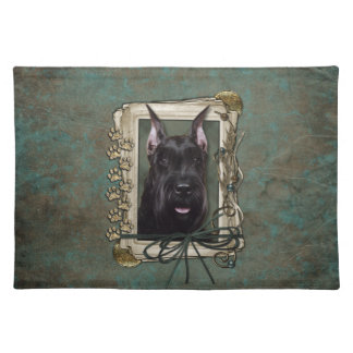 Fathers Day - Stone Paws - Schnauzer Placemat