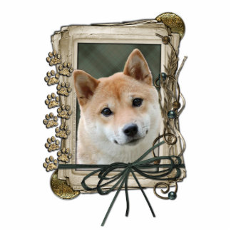 Fathers Day - Stone Paws - Shiba Inu Standing Photo Sculpture