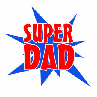 Father's Day Super Dad Magnet Photo Sculpture Magnet