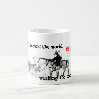 Father's Day with horse pics Basic White Mug