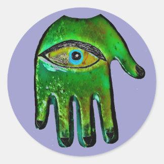 Fatima Hand protection Classic Round Sticker