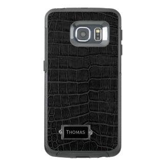 Faux Black Alligator Otterbox Samsung S6 Edge Case