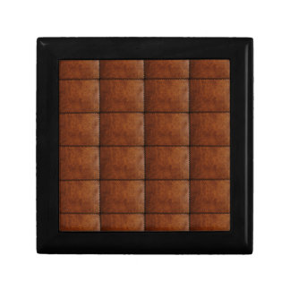 Faux Brown Leather Texture Gift Box