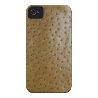 Faux Brown Ostrich Skin Case-Mate Case