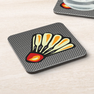 Faux Carbon Fiber Badminton Coaster