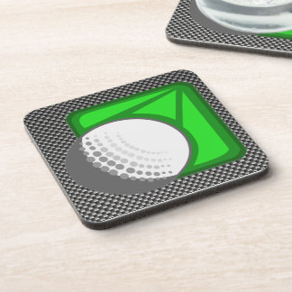 Faux Carbon Fiber Golf Ball Coasters