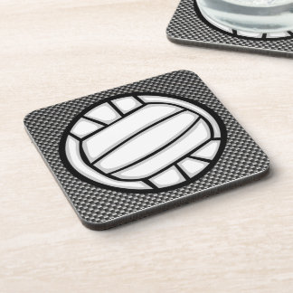 Faux Carbon Fiber Volleyball Coaster