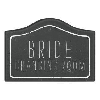 Faux Chalkboard Bride Changing Room Door Sign