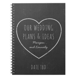 Faux Chalkboard Wedding Plans and Ideas Journal