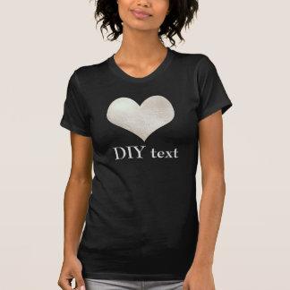 Faux Foil, Silver Heart T-shirts