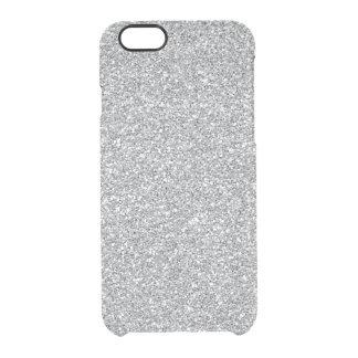 Faux glitter iPhone 6 Uncommon case silver