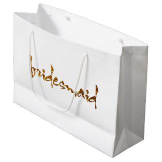 Faux Gold Foil Bridesmaid Large Gift Bag