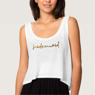 Faux Gold Foil Bridesmaid Singlet