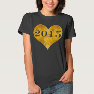 Faux Gold Foil Class of 2015 Tees