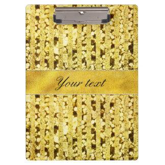 Faux Gold Foil Stripes and Confetti