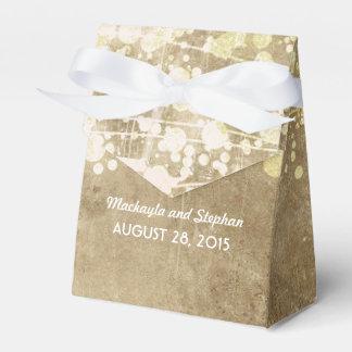 faux gold foil wedding string lights glitz wedding favour boxes