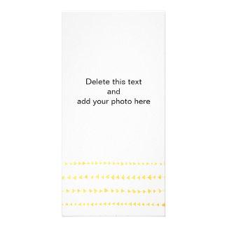 Faux Gold Foil White Arrows Pattern Photo Card Template