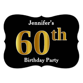 Faux Gold Look 60th Birthday Party + Custom Names Card