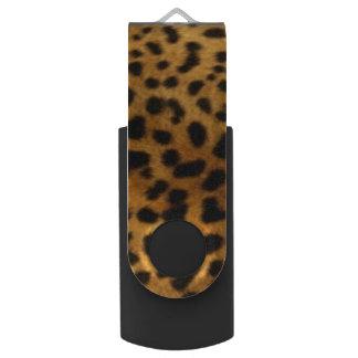 Faux Leopard Style Swivel USB Flash Drive - Gifts