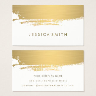 Faux Metallic Gold Brushed Business Card