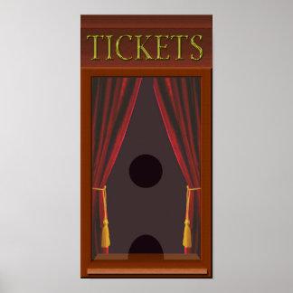 Faux Movie Theatre Ticket Window Poster