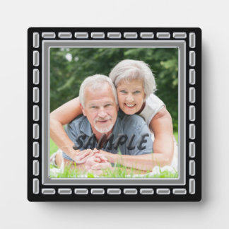 Faux Pewter Black Silver Anniversary Template Plaque