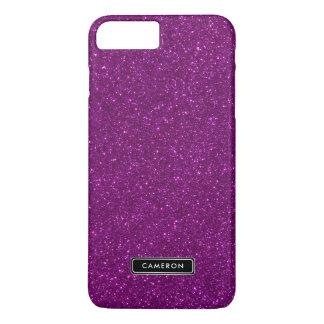 Faux Purple Glitter Lux Custom iPhone 8 Plus Case