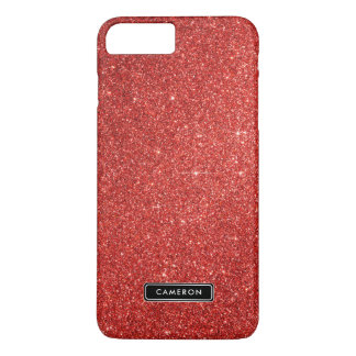 Faux Red Glitter Luxury Custom iPhone 8 Plus Case