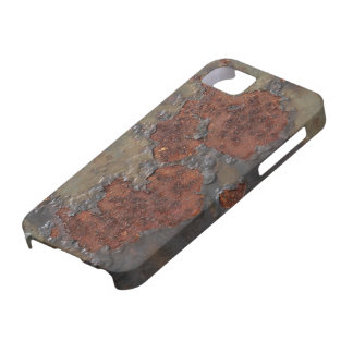 Faux rust texture (brown flaky rusted iron) pitted iPhone 5 cover