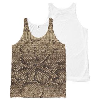 Faux Snake skin design (python) All-Over Print Singlet