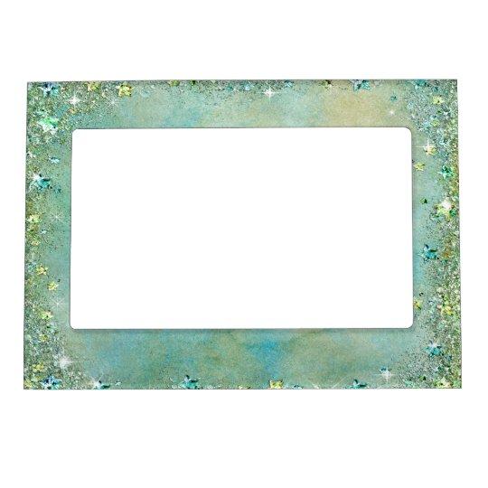 Faux Sparkle, Glitter, Turquoise Sand, Custom Frame Magnet