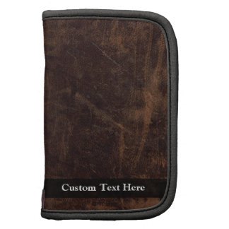 Faux Vintage Leather-Look Planner