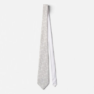Faux White Satin Design Tie