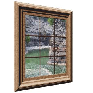 Faux Window Scene Genesee River Gorge Canvas
