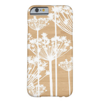 Faux wood flowers girly floral pattern barely there iPhone 6 case
