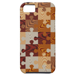 Faux wood jigsaw puzzle iPhone 5 cases