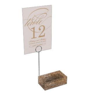 Faux Wood Table Card Holders