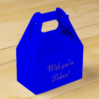 Favor Box Gable Royal Blue Party Favour Boxes