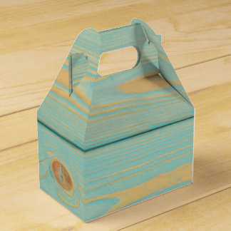 Favor box with blue wooden pattern texture wedding favour boxes