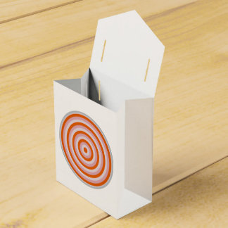 Favour Box with Colourful Concentric Circles