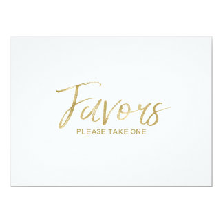 """Favours"" Wedding Sign 